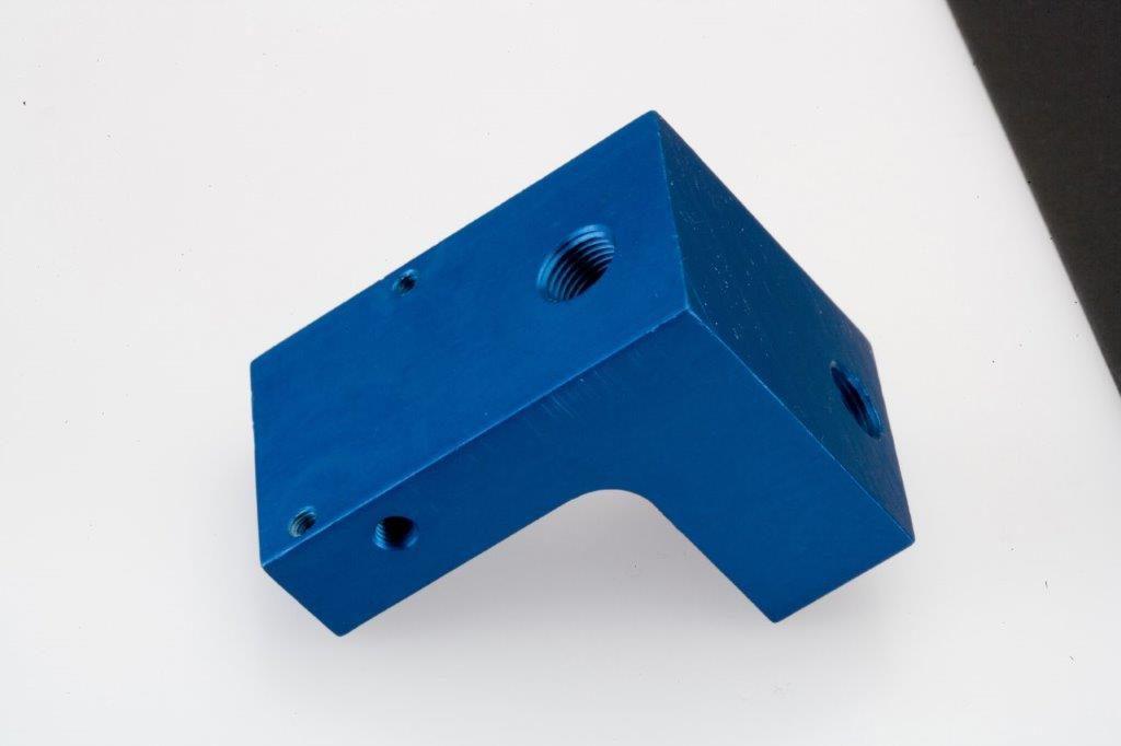 CNC Milling Machining Aluminum Drilled Block