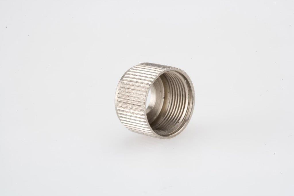 Screw Machine Products Turned Parts Aluminum Threaded Nozzle