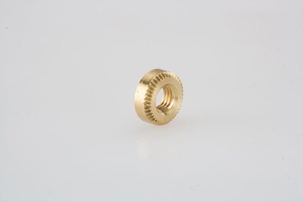 Screw Machine Products Turned Parts Brass Knurled Spacer