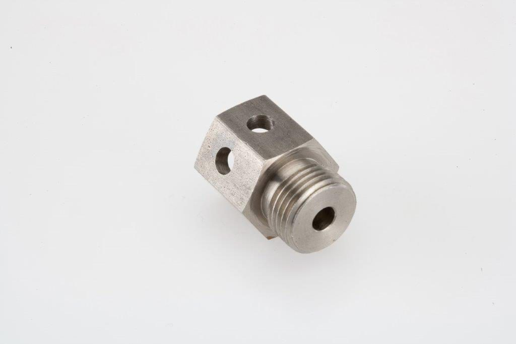Screw Machine Products Turned Parts Steel Hydraulic Fitting
